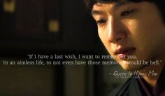 Queen In Hyun's Man: the most amazing Kdrama (at least in my opinion. Korean Drama Movies, Korean Dramas, Queen In Hyuns Man, Sweet Quotes, Sweet Sayings, It's Okay That's Love, Watch Drama, Asia, Drama Fever