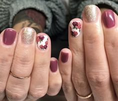 18 Gorgeous Floral Nail Art Designs for Spring Fancy Nails, Cute Nails, Pretty Nails, Floral Nail Art, Nail Art Diy, Vacation Nails, Spring Nails, Fall Gel Nails, Fall Nail Art