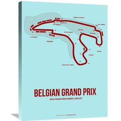 Naxart 'Belgian Grand Prix 3' Graphic Art on Wrapped Canvas Size: