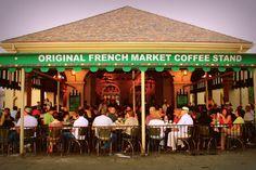 Café du Monde: fine art photograph print of crowded outdoor New Orleans restaurant. $15.00, via Etsy.