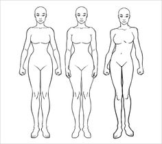 Female Body Outline Google Search Drawing Refrences Female