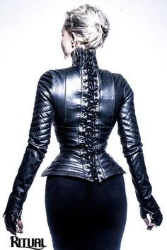 Ritual Stardust Leather Jacket with Corset Style lacing Fast Fashion, Womens Fashion, Eco Friendly Fashion, Teen Vogue, Leather Fashion, Wearable Art, Leather Pants, Black Leather, Lambskin Leather