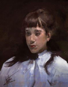John Singer Sargent's 'Young Girl' by Carl-Ellistrator on DeviantArt