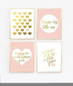 b330c0be24f Pink and gold baby girl nursery. - And though she be but little