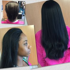 Wig Sewin Before After Hair, Beauty Supply, Hair Ideas, Wigs, Hair Beauty, Lace Front Wigs, Cute Hair