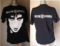 "Siouxsie & the Banshees t-shirt/Rare Unisex t-shirt from 1980/Goth tee/Rare t-shirt featuring queen Siouxsie/logo taken from Mittageisen 7"" by Stralixa on Etsy"
