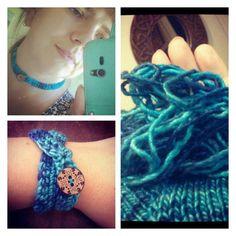 forestflowerdesigns crochet bracelet