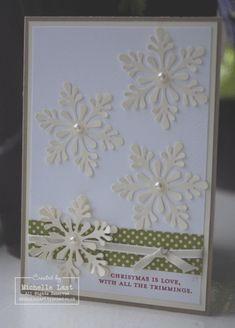 Stampin Up Christmas Cards from my recent class - Stampin Up Demonstrator Michelle Last