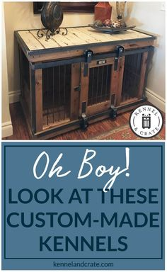 Designer indoor single or double dog kennels! Replace your wire dog crate with a.Designer indoor single or double dog kennels! Replace your wire dog crate with a beautiful piece of functional furniture! Kennels For Sale, Dog Kennels, Dog Crates For Sale, Wire Dog Crates, Airline Pet Carrier, Diy Dog Crate, Dog Furniture, Luxury Furniture, Puppies Tips