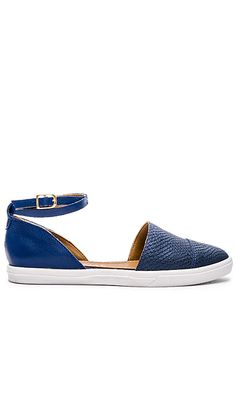 Kaanas St. Thomas Ankle Strap D'Orsay in Cobalt | REVOLVE