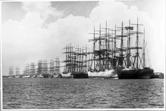 Sailing ships at Stockton Wharves, Newcastle, New South Wales, circa 1895 Australian National Maritime Museum William Hall Collection Object number Old Sailing Ships, Vintage Boats, Retro Vintage, Merchant Navy, Naval, Set Sail, Model Ships, Tall Ships, Water Crafts