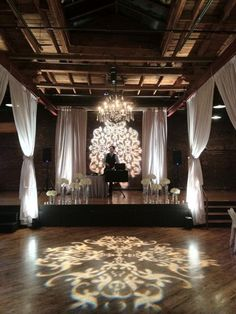 Pattern Gobos and Aisle Draping