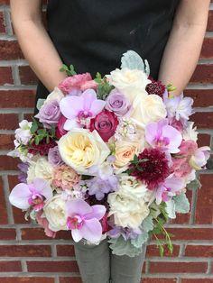wedding party florist flower arrangements home decor Job lot lilac silk roses