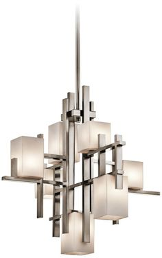City Lights Modern Steel 23 3/4-Inch-H Kichler Chandelier -