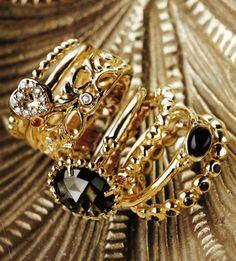 GOLD PANDORA RINGS