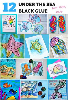 Black Glue Under The Sea Ocean Arts and Crafts for Kids