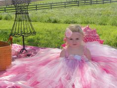Infant Size 3M  24 M Shabby Chic Tutu Dress  by PinkPosieCouture, $60.00