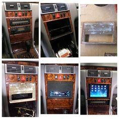 #mulpix Ipad install in mercedes w210 @fillyfontes #benz #mercedes #ipadinstall #w210 #benz #custom #fiberglass #caraudio #audioclinic #sony #diesel