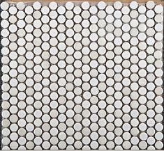 Emser Tile Confetti Penny Round 8Mm White Mixed Finish Mosaic On 12X12
