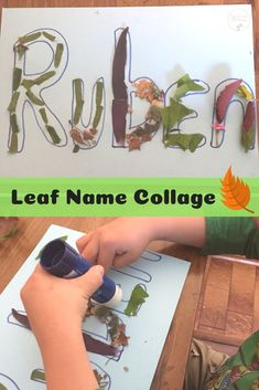 Leaf name collage for name recognition! #teach