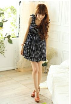 Sweet Butterfly Fashion Dot Dress Black on BuyTrends.com, only price $9.53
