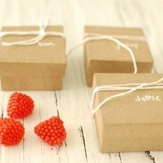 Berry Candy Wedding Favor Boxes from Frolic | Wedding Ideas and Inspiration Blog