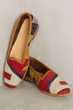 at anthropologie Artemis Kilim Loafers - red motif