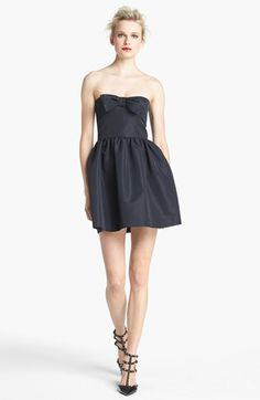 RED Valentino Strapless Bow Detail Dress | Nordstrom….. This would be so much cuter if it were longer!
