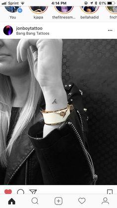 I n t i a l, - initial tattoo - Mini Tattoos, Dainty Tattoos, Pretty Tattoos, Cute Tattoos, Body Art Tattoos, Sleeve Tattoos, Tatoos, Tiny Tattoos For Girls, Little Tattoos