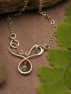 Handmade Sterling Silver Tourmaline Necklace