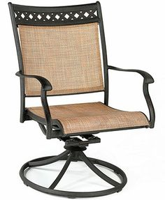 outdoor swivel rocker chair gel cushion for chairs 24 best dining images furniture closeout vintage cast aluminum macy s
