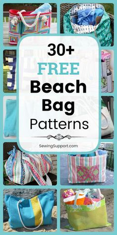 Free Beach Bag Patterns Bag Patterns to sew. free Beach Bag patterns, tutorials, and diy sewing projects. Great for Summer! Lots of instructions for how to make a beach bag, canvas and mesh styles included. Diy Sewing Projects, Sewing Projects For Beginners, Sewing Hacks, Sewing Tutorials, Sewing Tips, Beach Bag Tutorials, Sewing Crafts, Bag Sewing Pattern, Bag Patterns To Sew