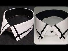 How to make designer shirt collar Shirt Collar Styles, Collar Shirts, Collar Designs, Shirt Designs, Man Dress Design, Gents Shirts, Gents Kurta Design, Only Shirt, Formal Shirts For Men
