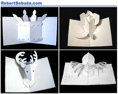 DIY - pop up cards with free templates and patterns prepared by Robert Sabuda