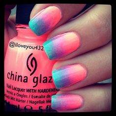 Summer ombre #nails Photo by iloveyou432