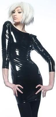 DARQUE SEXY GOTHIC FETISH DOMINATRIX VINYL RUBBER PVC VAMPIRE GOTH DRESS D9250