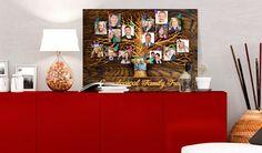 Obraz na korku - Family Tree [Corkboard] Cork Map, 3d Wallpaper Mural, Cork Bulletin Boards, Color Depth, Map Art, Bold Colors, The Ordinary, Screen Printing, Cool Designs