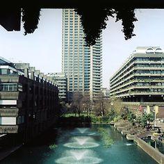 The Barbican Estate, City of London. via  http://georgiefame.tumblr.com/post/85825459616/omgwhydontuloveme-the-barbican-2014 (LW14-3)