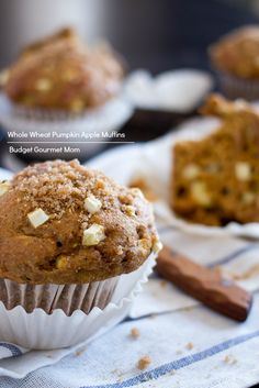 Whole Wheat Pumpkin Apple Muffins