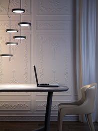 Contemporary metal pendant lamp - NENÚFAR by Joan Gaspar - Marset Iluminacion Interior Architecture, Interior And Exterior, Interior Design, Led Band, Berlin Design, Modern Classic, Modern Traditional, Lighting Design, Designer