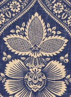 Interesting Indigo Fabric. Vaguely Victorian/aesthetic pattern. $28.95 a yard.