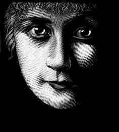 a selection of awesome portraits - woodcut prints