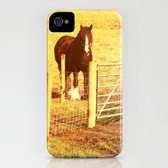 Vintage Horses iPhone Case by Elizabeth Wilson Photography