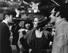 Michael Sarrazin, Jane Fonda and director Sydney Pollack on the set of They Shoot Horses Don't They?, 1969