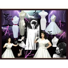 """Bride of Frankenstein inspired set from Vivien of Holloway!"" by vivienofholloway on Polyvore"