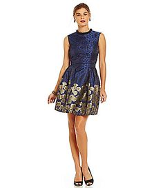 Belle Badgley Mischka Iman AnimalPrint Pleated ALine Dress #Dillards