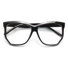 37525369bcf Voight Angled Unisex Clear Horn Rimmed Glasses