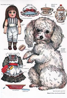 Dress your dog up paper dolls. from Origami Bears