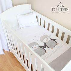 Penguins Egyptian Cotton Cot Duvet Cover Set. Available online at http://www.babesandkids.co.za