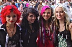 #SXSW Hair - Nia, Julia, Rena and Miranda aka Cherri Bomb is one of the hottest up-and-coming bands out of L.A. These girls had some of the most rockin' hair we saw all day.